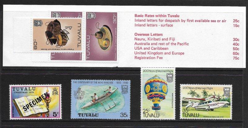 Tuvalu - Assort Mix - Mint Stamp Book + Specimen- nice range!
