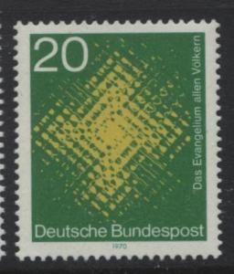 GERMANY. -Scott 1045 -Catholic Missonaries - 1970- MNH - Single 20pf Stamp