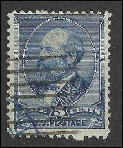 # 216 Indigo Used James A. Garfield