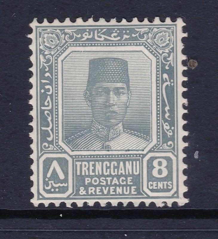 Trengganu the 1921 LHM 8c grey