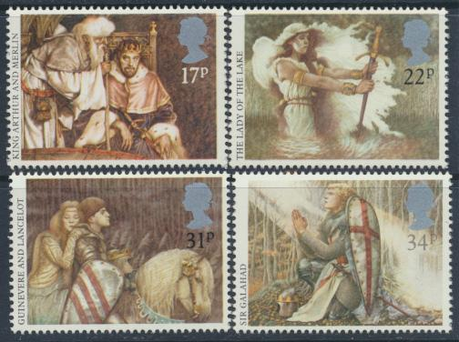 GB SG 1294 - 1297  SC# 1115-1118 Mint Never Hinged - Arthurian Legends