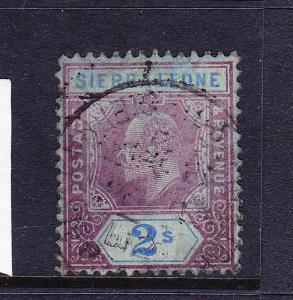 SIERRA LEONE  1907-12   2/-  KEVII   FU  SG 109