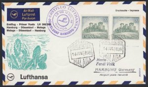 SPAIN 1968 Lufthansa first flight cover to Germany.........................H269