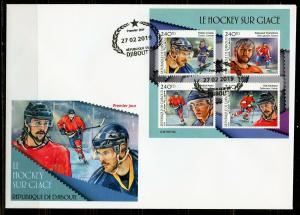 DJIBOUTI  2019 ICE HOCKEY  SHEET  FIRST DAY COVER