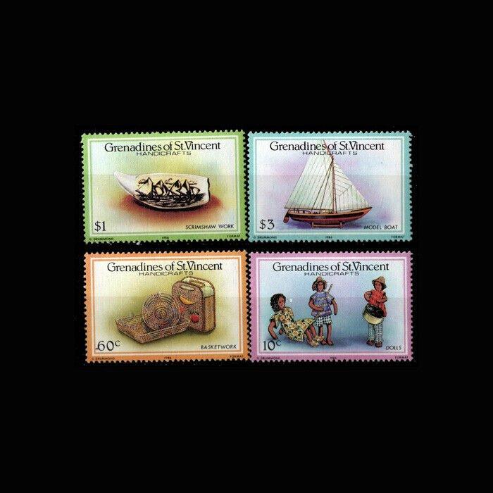 St. Vincent MNH 519-22 Handcrafts
