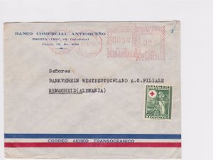 COLOMBIA 1954  SLOGAN METER AIR MAIL COVER TO ALEMANIA  R3789