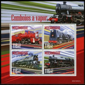 MOZAMBIQUE 2019  STEAM TRAINS SHEET MINT NEVER HINGED