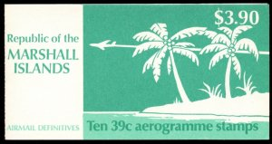 Marshall Islands - Sc# C24a, Complete Booklet, MNH.  2017 SCV $9.00
