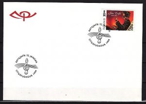 Iceland, Scott cat. 870. Composer Jons Liefs issue. First day cover. ^