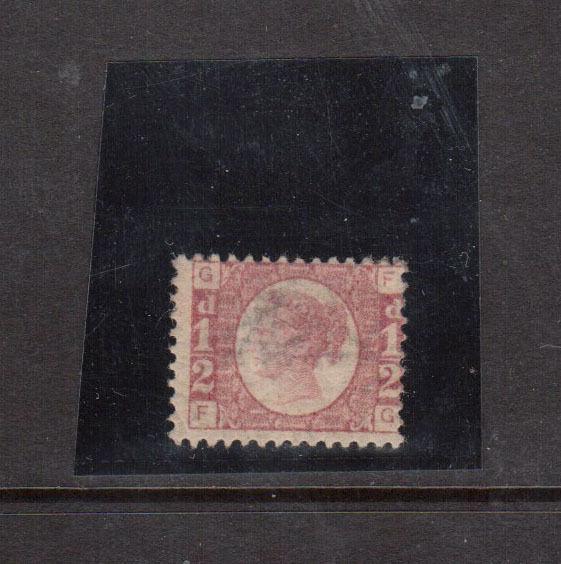 Great Britain #58 Mint Fine Original Gum Hinged Plate #1