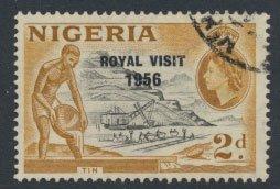 Nigeria  SG 81 SC# 92 Used  QEII Royal Visit 1956   please see scan