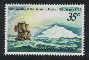 Norfolk Captain Cook Bicentenary Crossing of the Antarctic Circle 1v SG#129