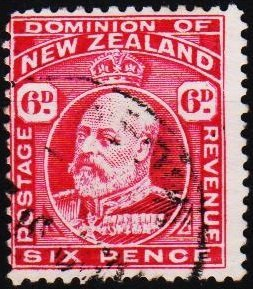 New Zealand. 1909 6d S.G.392  Fine Used