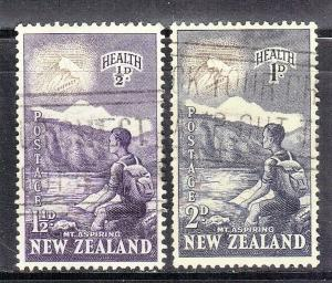 NEW ZEALAND SC# B44-45  MOUNTAIN CLIMBER   SEE SCAN