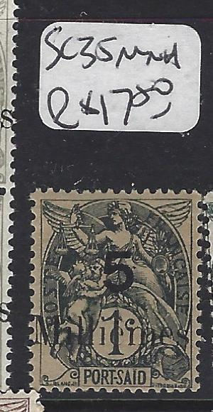 FRANCE OFFICES IN EGYPT (P1808B) PORT SAID SC 35    MNH