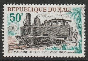 Mali Trains Locomotives Railway Station Machine de Bechevel 50f used A16P1F29