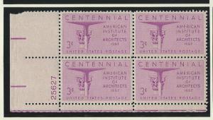 United States Plate Block   mnh SC  1089
