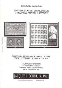 United States, Worldwide Stamps & Postal History, Schiff 244
