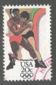 USA Scott 2082 wrestling Olympic stamp Used