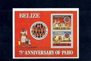 BELIZE - 1985 - PAHO - HEALTH - MEDICAL LABORATORY - MINT - MNH S/SHEET!