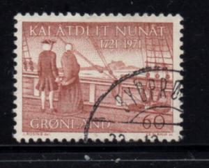 Greenland Sc 77 1971 Arrival of Hans Egede stamp used
