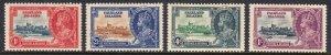 FALKLAND ISLANDS — SCOTT 77-80 — 1935 SILVER JUBILEE SET — MH — SCV $36.85