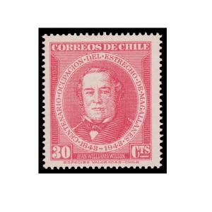 CHILE STAMP YEAR 1944. SCOTT # 234. MINT