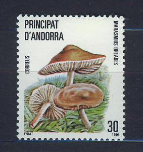 ANDORRA SPANISH 1986 MNH SC.172 Mushrooms