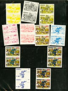 Liberia 1949 Selection of 11 Proof Pairs in various color stage