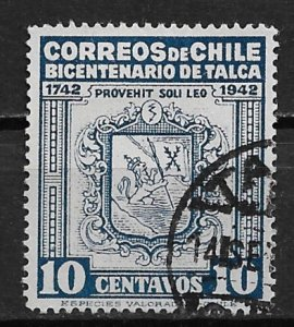 1942 Chile Local Talca 10c issue for 200th Anniversary of the city of Talca