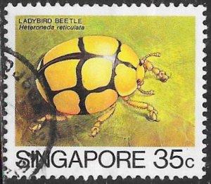 Singapore 458 Used - Insects - Netty Ladybird Beetle (Heteroneda reticulata)