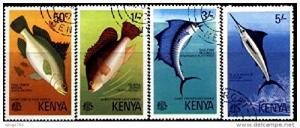 Kenya Scott #68 to 71 (68-71), Complete Game Fish Issue From 1977 - Free U.S....