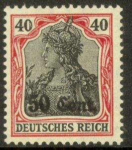 FRANCE 1916 WW1 GERMAN OCCUPATION 50c on 40pf GERMANIA Sc N22 MH