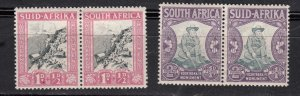 J28437, 1933-6 south africa mh/mhr pairs #b2-3
