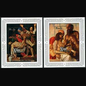 NIUE 1978 - Scott# B1-2 S/S Easter-Paintings NH