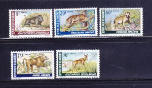 Dahomey 252-256 Set MNH Animals