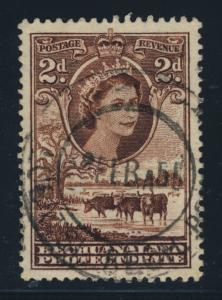 BECHUANALAND - 1955 - LOBATSI BECH. PROTECTORATE DOUBLE CIRCLE DS ON SG 145