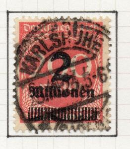 Germany 1923 Early Issue Fine Used 2M. Surcharged 302133