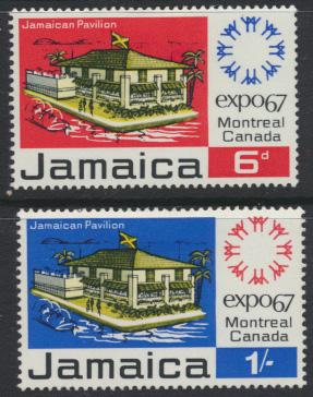 Jamaica SG 260-1 Mint Hinged   SC# 259-60  World Fair Montreal  see details