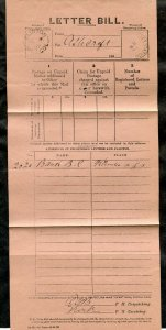 p916 - CLINTON BC 1887 Split Ring on Letter Bill