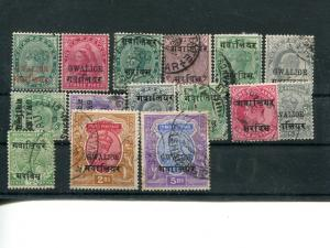 India Gwalior nice little lot mint and used  - Lakeshore Philatelics