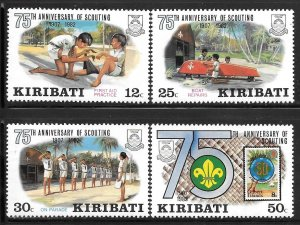 Kiribati 410-413: Scouting Activities, MH, VF