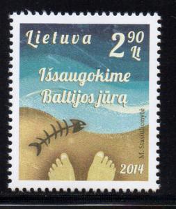 Lithuania Sc 1027 2014 Baltic Seas stamp mint NH