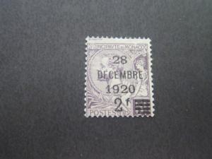 Monaco 1921 Sc 32 FU