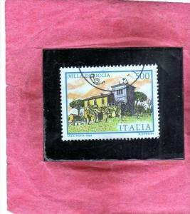 ITALIA REPUBBLICA ITALY REPUBLIC 1983 VILLE D´ITALIA VILLA DI RICCIA LIRE 50...