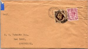 Whitstable UK > Knoxville TN air mail 1953 cover