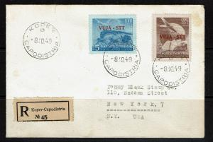 Yugoslavia Trieste Zone B SC# 15 & 16 - REGISTERED First Day Cover - Lot 082117