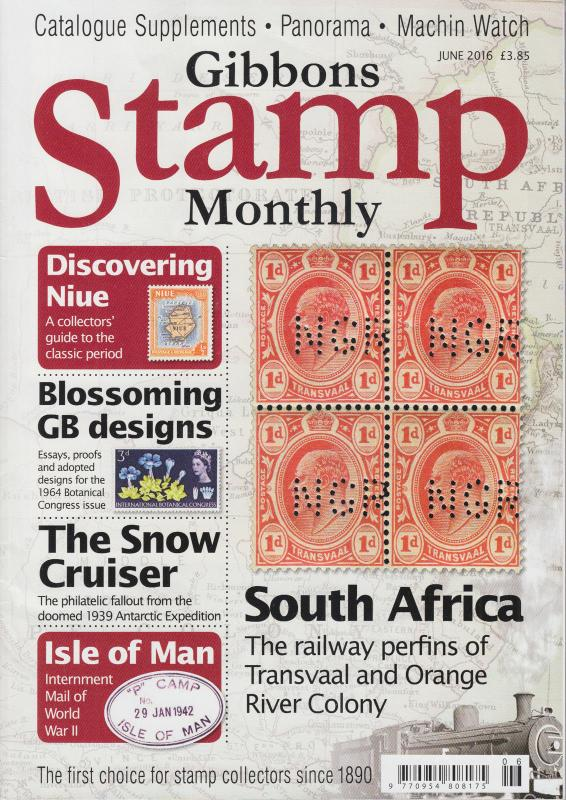 Gibbons Stamp Monthly - British Stamp Magazines, complete year 2016 - 12 issues