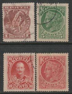 Crete 1900 Sc 50-53 set used/MH