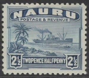 NAURU SG30B 1948 2½d DULL BLUE MTD MINT